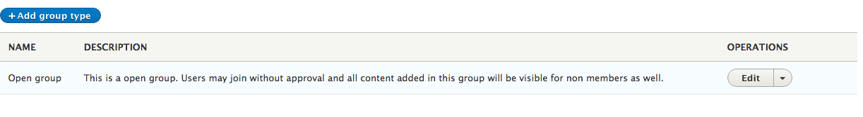 Adding group types in Open Social (Drupal 8)