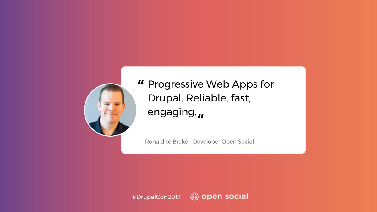 Progressive Web Apps DrupalCon Baltimore Ronald te Brake