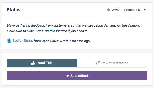 Prioritise Features for Open Social