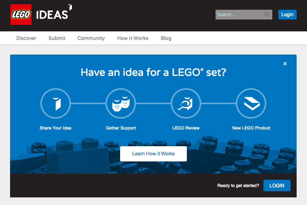 Lego's Idea Community is an example of an online community