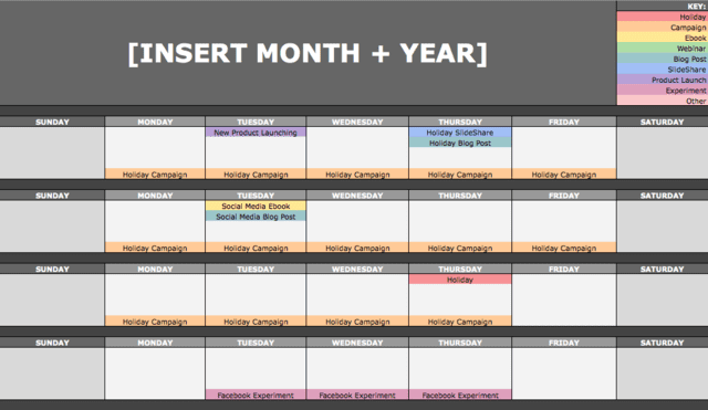 Use a content calendar to boost engagement