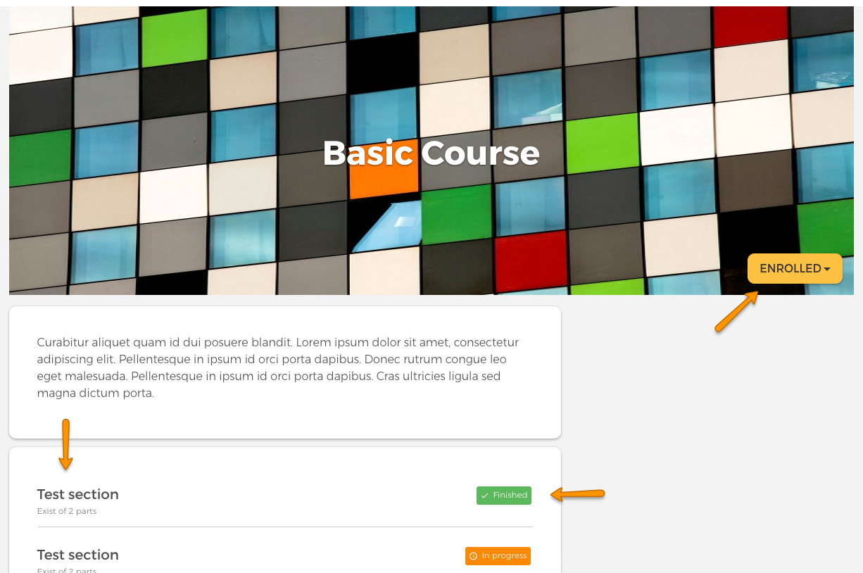 eLearning platform with basic courses