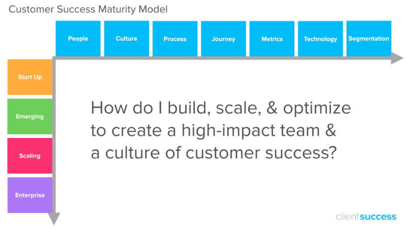 Maturity models for customer success