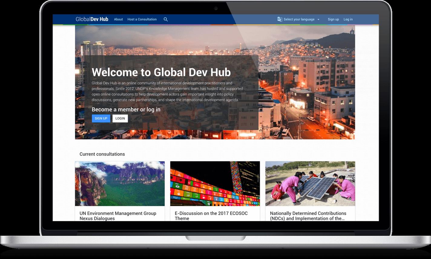 GlobalDevHub platform for content migration