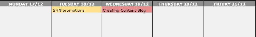 Use a content calendar