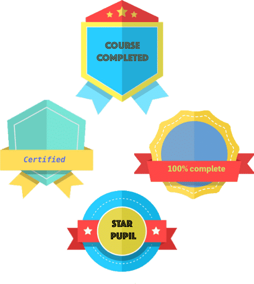 Earn a badge to show your progresson your online learning hub