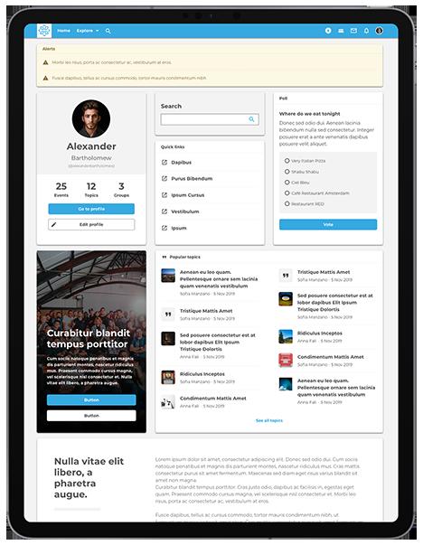 Open Social dashboard