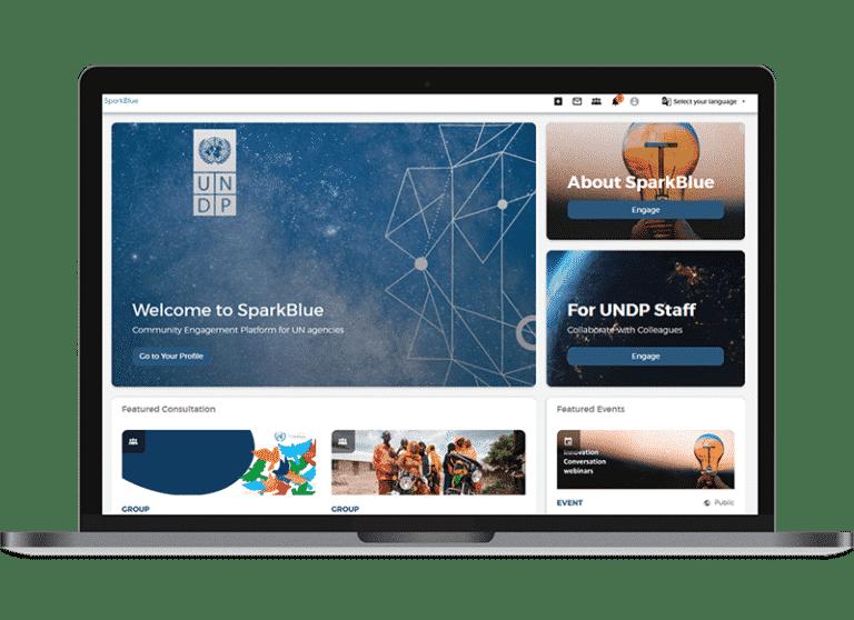Sparkblue homepage
