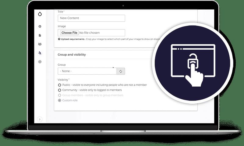 Custom Content Access screenshot