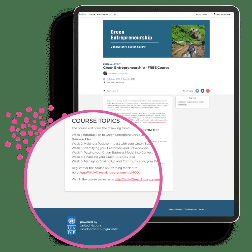 UNDP - SparkBlue - Courses