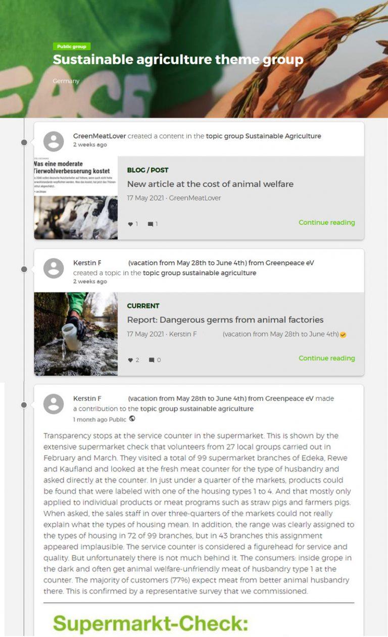 Greenpeace Group Screen