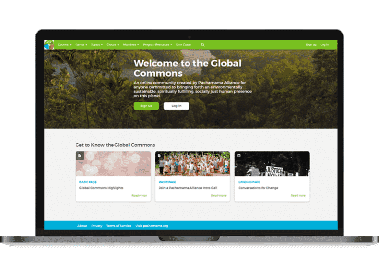 Pachamama Alliance homepage
