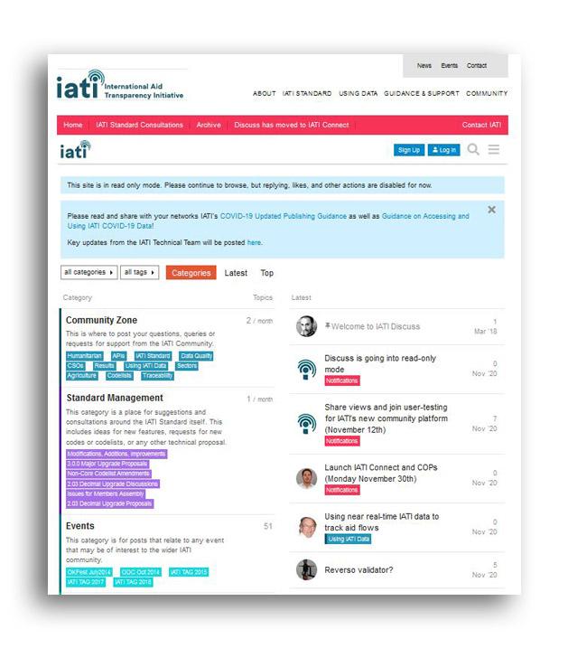 IATI Connect Old platform