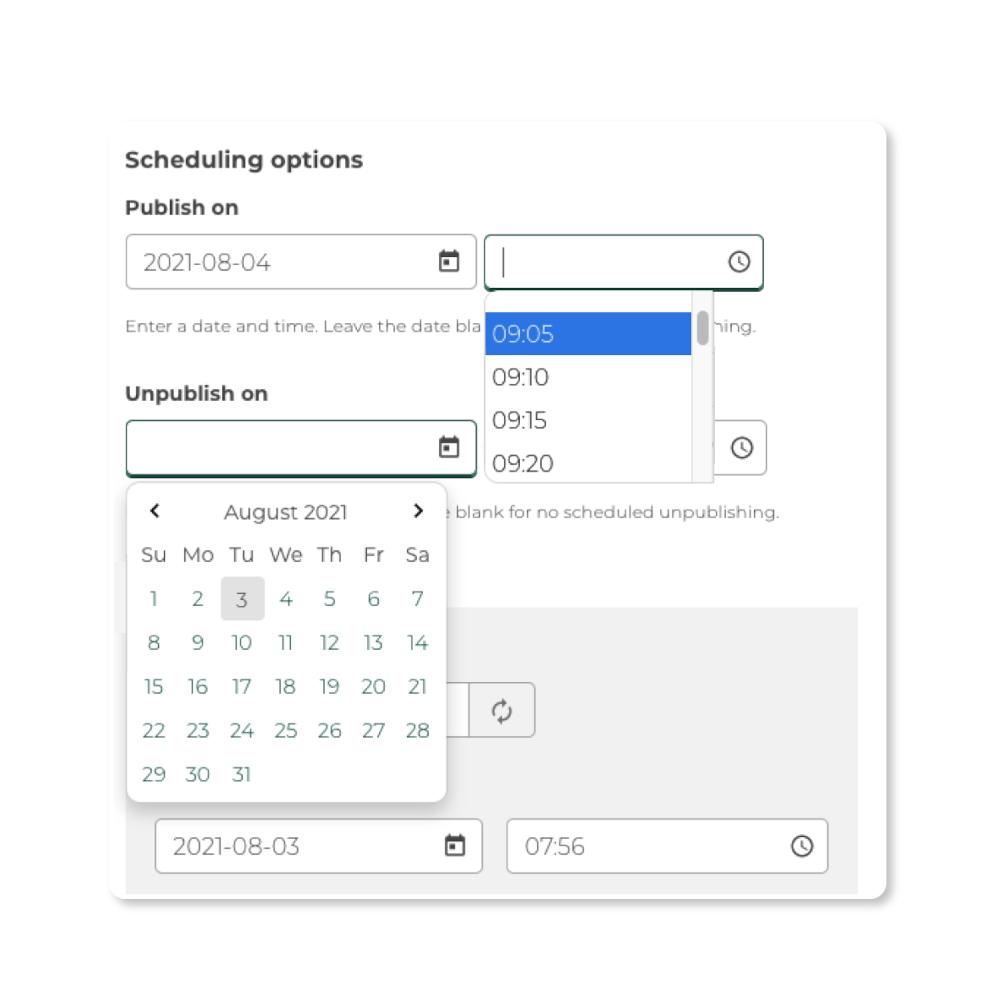 Content Scheduler widget