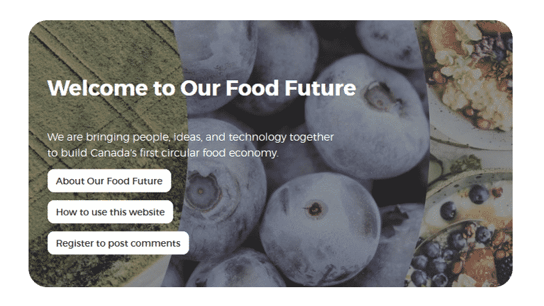 Our Food Future home